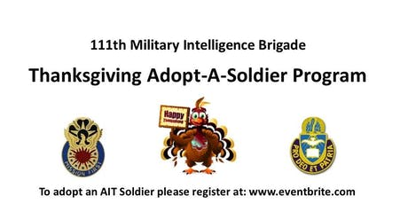 111th MI BDE Adopt a Soldier, NOV 19 tickets
