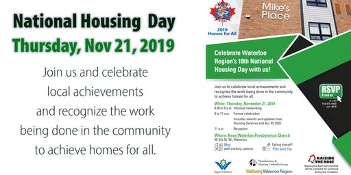 National Housing Day 2019