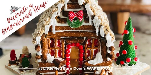 Decorate a Gingerbread House with Little Red Barn Door + Lunch