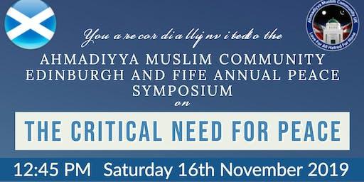 Ahmadiyya Muslim Community Edinburgh & Fife - Peace Symposium 2019