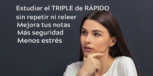 ESTUDIA EL TRIPLE DE RÁPIDO Y DEJA ESPACIO PARA LO QUE DE VERDAD TE IMPORTA