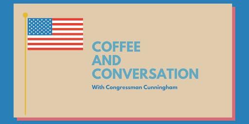Veterans Coffee & Conversation, hosted by Congressman Cunningham