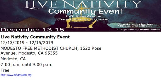 Live Nativity Community Event