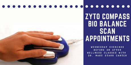 Zyto Scan Appointment Before or After Wellness Class tickets
