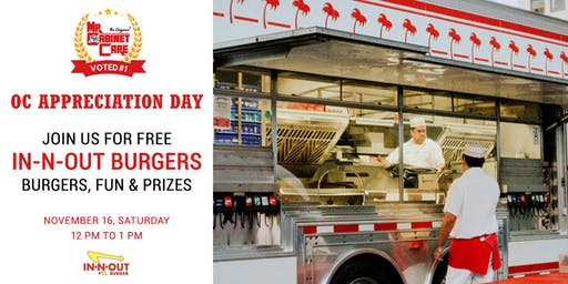 Thank You OC! - Enjoy Free Burgers, Fun & Prizes