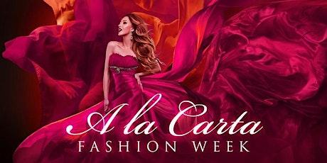 A la Carta Fashion Week entradas
