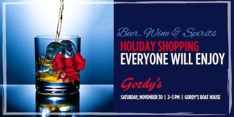 Gordy's Wine, Beer & Spirits Tasting, November 30, 2019 tickets