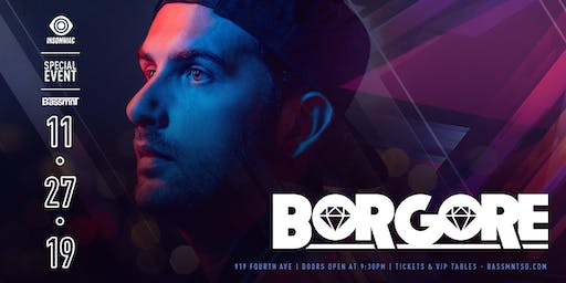 Borgore at Bassmnt Wednesday 11/27