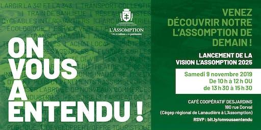 Dévoilement - Vision L'Assomption 2025