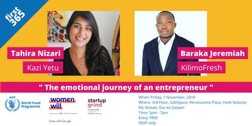 Join WFP Innovation Hub, Women Will & Startup Grind Dar at first 365!