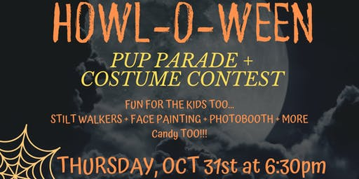 PUP PARADE + COSTUME CONTEST + BOO ON BROADWAY PARTY