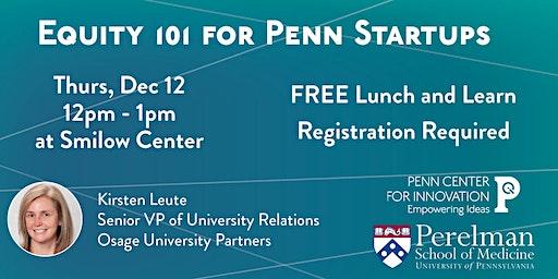 Equity 101 for Penn Startups
