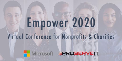 Virtual Conference for Nonprofits & Charities, hosted by Microsoft & PSIT