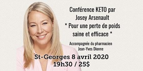 ST-GEORGES - Conférence KETO - Pour une perte de poids saine et efficace!  billets