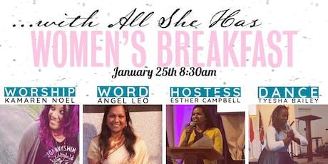 Women's Breakfast: With All She Has tickets