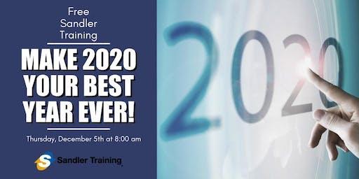 Make 2020 Your Best Year Ever-Sales Workshop