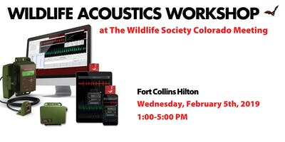 Wildlife Acoustics Workshop at TWS Colorado Chapter 2020