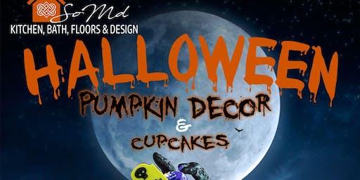 Holloween Pumpkin Decor & Cupcakes