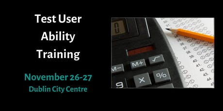 Training in Psychometric Testing - Test User: Occupational Ability tickets