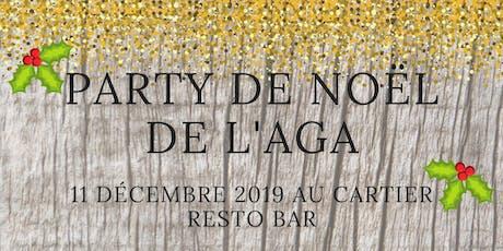 Souper de Noël AGASCJC-2019 billets