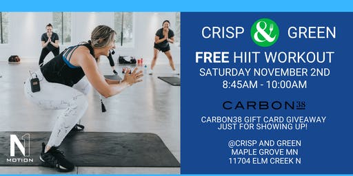 FREE HIIT WORKOUT @Crisp and Green
