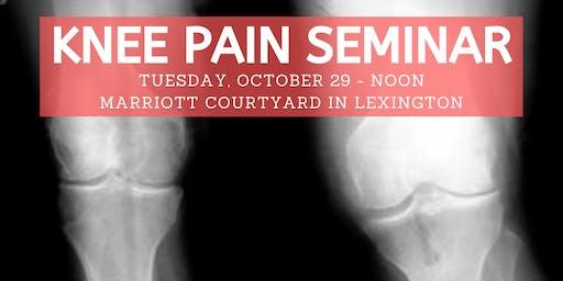 Tony Delk Center KNEE Pain Seminar & Lunch - Oct. 29