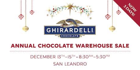 Ghirardelli Chocolate Warehouse Sale tickets