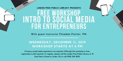 Free Workshop: Social Media for Entrepreneurs