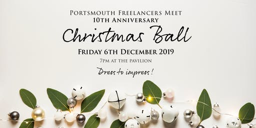 Portsmouth Freelancers Meet 10th Anniversary Christmas Ball