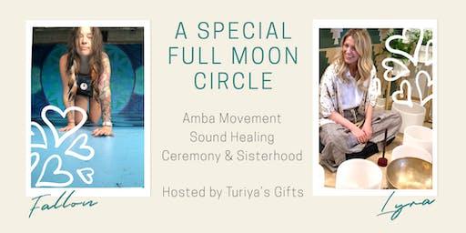 Special Full Moon Circle: movement, sound healing, and sisterhood