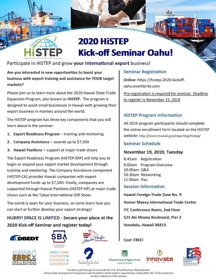 2020 HiSTEP Kick-off Seminar Oahu! image