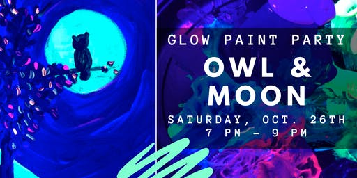 Glow Paint Party ::: Owl & Moon