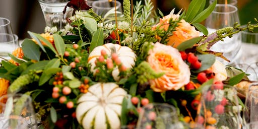 Wine & Floral Design: Fall Themed Centerpiece Class