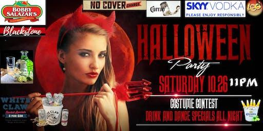 Bobby Salazar's Blackstone Halloween Costume party.