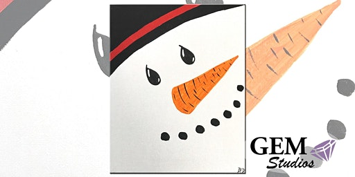 Snowman Kids Painting Class