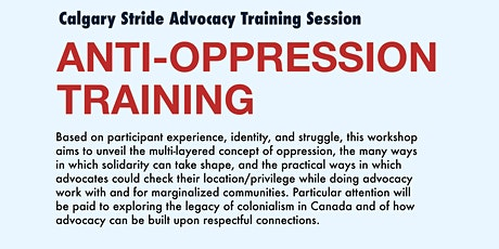Stride Calgary: Anti-Oppression Training tickets