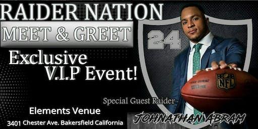 Raiders Johnathan Abram Exclusive Meet and Greet!