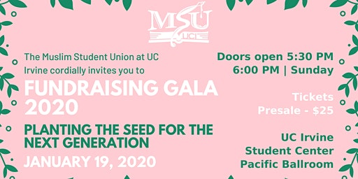 MSU Fundraising Gala 2020: Planting the Seed for the Next Generation