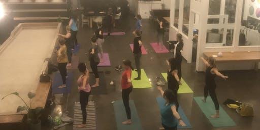 Yoga + Champagne at Brennan's Work & Leisure Midtown