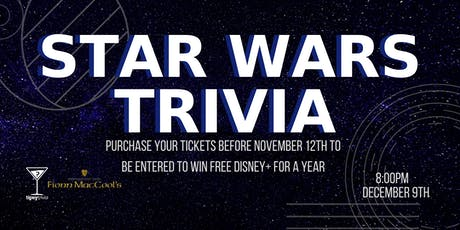 Star Wars Trivia - Dec 9, 8:00pm - Fionn MacCool's Barrie tickets