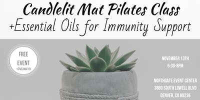 Candlelit Pilates + Essential Oils for Immunity Support