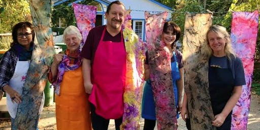 Silk Painting Class - Paint your own abstract/ethereal art silk scarves