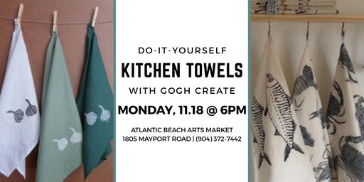 Do-It-Yourself Kitchen Towels with Gogh Create