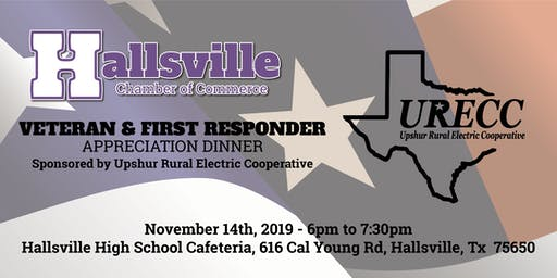 2019 Veteran and First Responder Appreciation Dinner sponsored by URECC