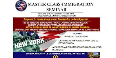 MASTER CLASS  - INMIGRATION SEMINAR