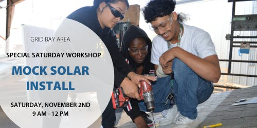 November Workshop: Mock solar installation at GRID's practice roof!