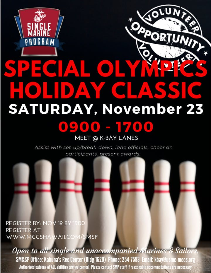 SM&SP Special Olympics Holiday Classic Bowling Tournament @ K-Bay Lanes | Kailua | HI | US