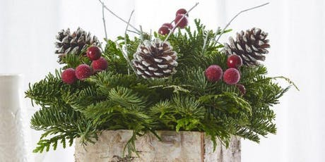 Class - Christmas Centre Piece with Candle FRESH EVERGREENS! tickets