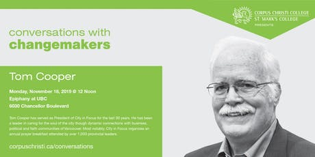 Conversations with Changemakers presents Tom Cooper tickets