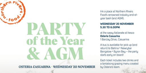 Northern Rivers Food Party of the Year and AGM!!